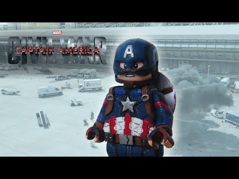 Lego Captain America Custom Minifigure