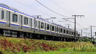 横須賀線E235系1000番台 付属編成 J-01編成 新津公式試運転