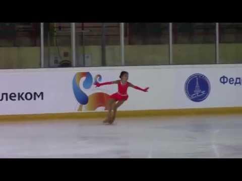 Rostelecom Crystal Skate 2015  Girls, Advanced Novices  КП 5 Anna SCHERBAKOVA RUS