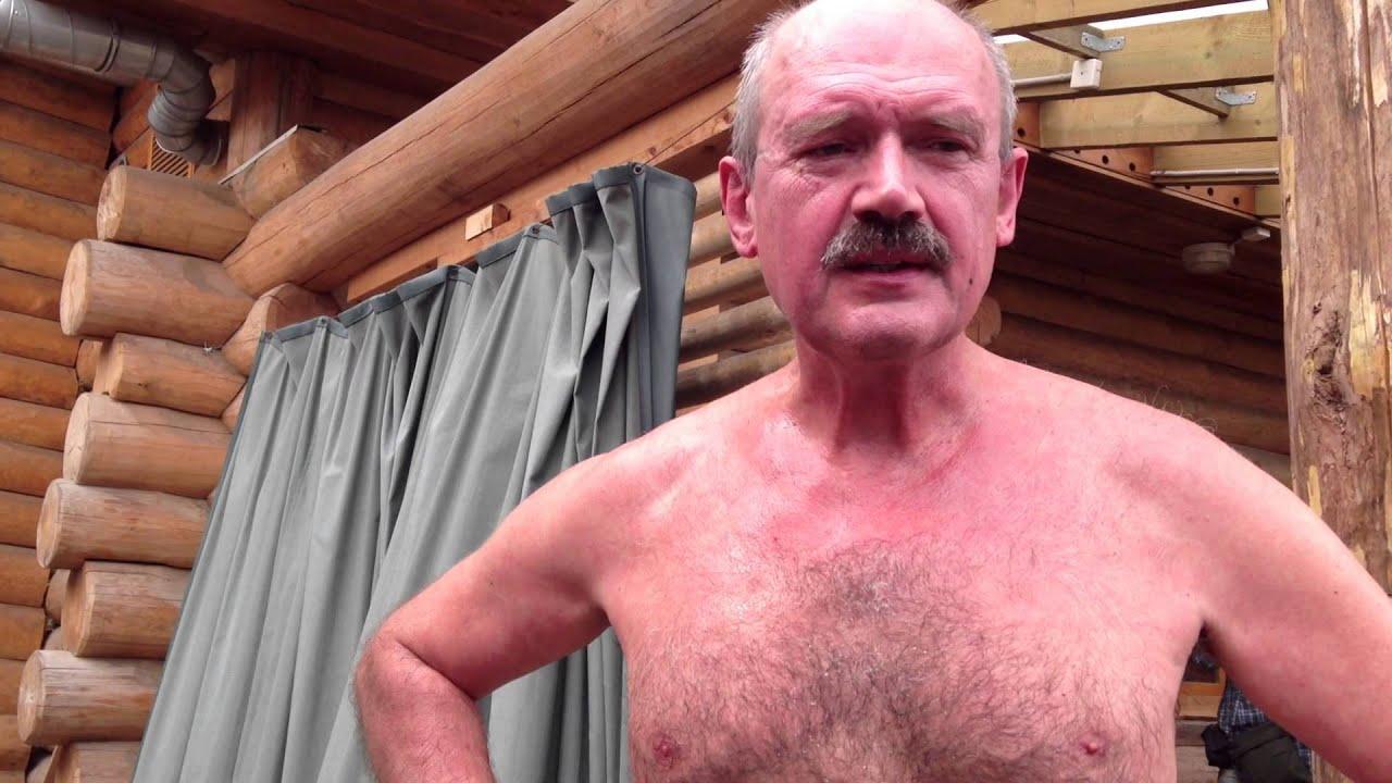 Дед в бане видео