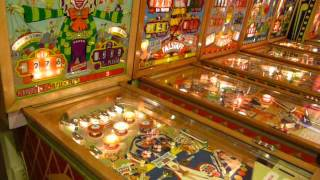 PARIS PINBALL MUSEUM - 4 & 2 PLAYERS WOODRAILS PINBALLS, GOTTLIEB, WILLIAMS, BALLY AND ALBEN