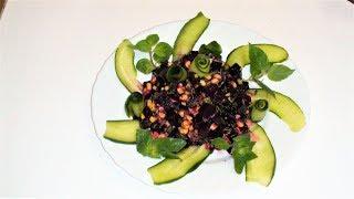 Свекольный салат без майонеза. Диет салат. Как приготовить салат из свеклы.