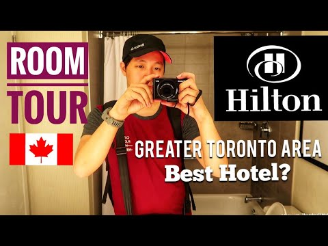 TOUCHDOWN TORONTO ✈️ + ROOM TOUR Of HILTON HOTEL MISSISSAUGA 🇨🇦 | Canada Vlogs Ep.06