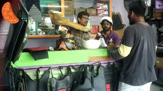 Helmet shop prank | Bike Helmet prankTamil | orange mittai | social Experiment | Sales men prank