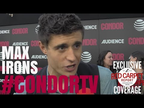 Max Irons ed at premiere of CondorTV spy thriller on AUDIENCEnetwork NowStreaming