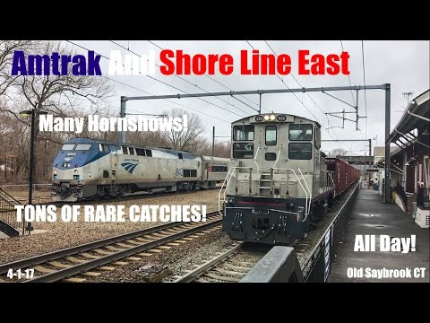 MUST SEE!!! Amtrak & SLE Trainspotting @ The Old Saybrook Station #21 With Very Rare Amtrak Trains!
