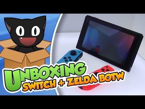¡Ya está aquí! - Unboxing Nintendo Switch (Neon) + Zelda Breath of the Wild