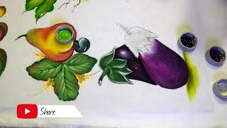 Aprenda a Pintar uma Berinjela