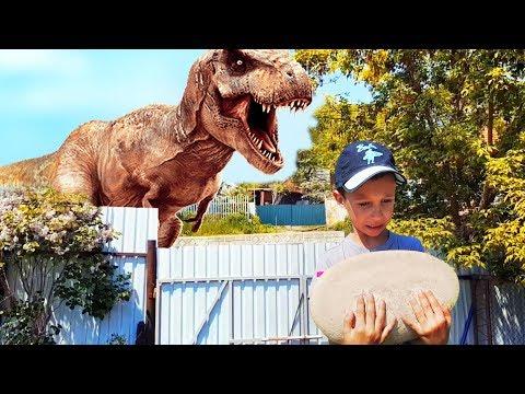 DINOSAUR EGG! GIANT Dinosaurs Egg & BABY DINOSAUR Hatched | Giant T-Rex Dinosaurs For Kids Videos