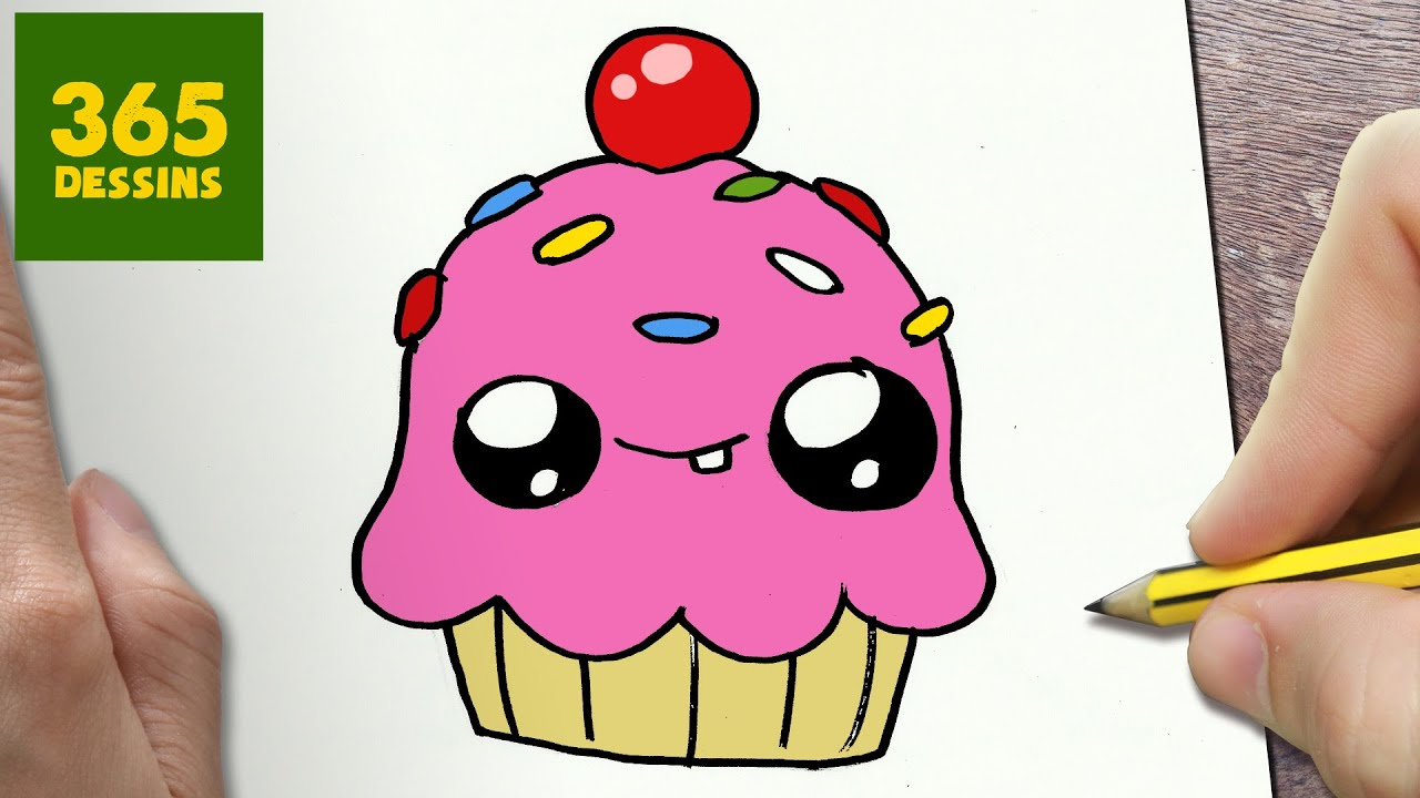 Comment dessiner cupcake kawaii tape par tape dessins kawaii facile youtube - Cupcakes dessin ...