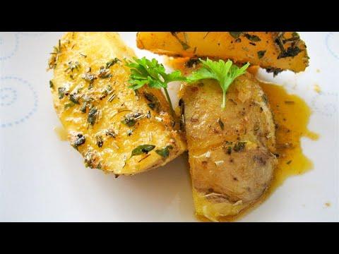 Kartoffelecken mit Kräutern (Roasted Potatoes with Herbs)