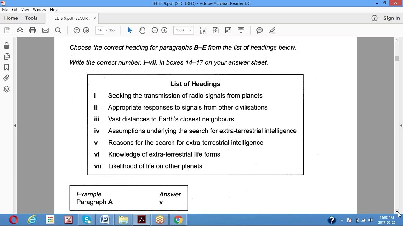 IELTS Reading || List of Headings Lesson 5
