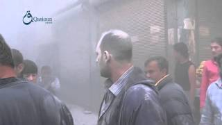 Qasioun news : Aleppo : civilians looking for bombardment area in Katerji neighborhood 20-11-2015