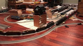 Testing O Scale Model Train Layout New Double Track & Interlocking (4/11/19)