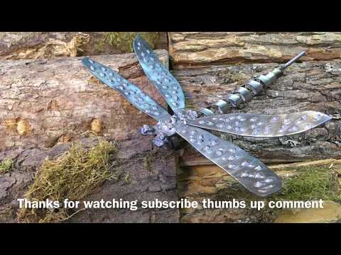 Metal Art Mig Welding Dragonfly How To