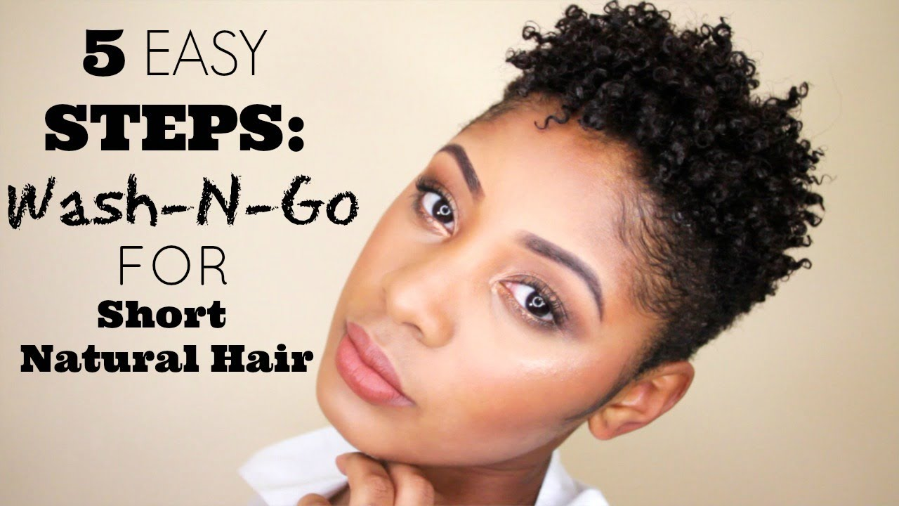 5 Easy Steps How To Wash Go For Short Natural Hair Youtube