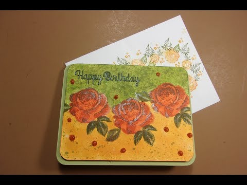 AliExpress Three Layer Rose Stamp Card