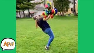 WOW! The Piñata FOUGHT BACK! 😂   Funny Fails   AFV 2020