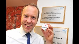 Health Secretary opens new Croydon Emergency Department (BBC London News 20052019)