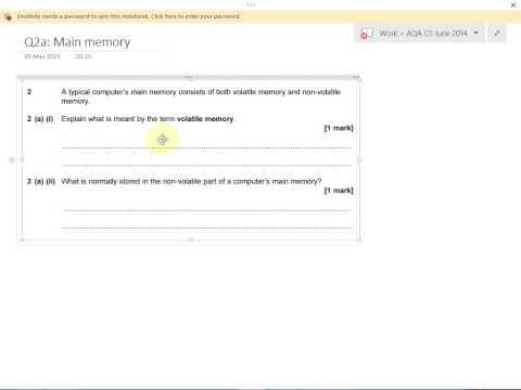 Q2a: Volatile and non volatile memory