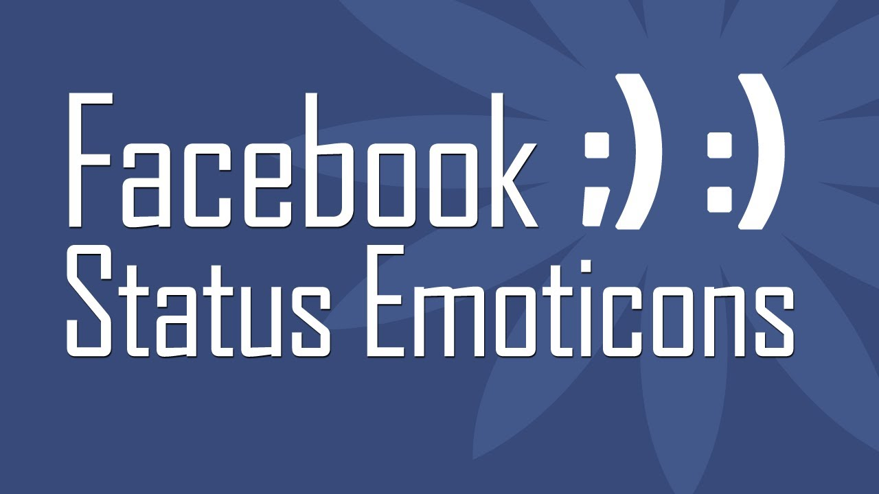 Use new Facebook Status Emoticons - YouTube