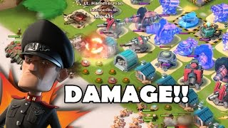 DAMAGE AMP DESTROYS HAMMERMAN!! | Boom Beach