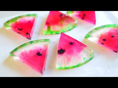 Agar-agar Watermelon Jelly お絵かき寒天スイカゼリー from YouTube · Duration:  8 minutes 28 seconds