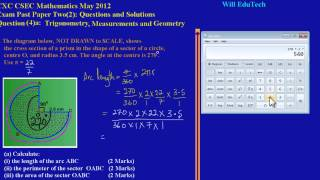 csec cxc maths past paper 2 question 4a may 2012 exam solutions answers by will edutech