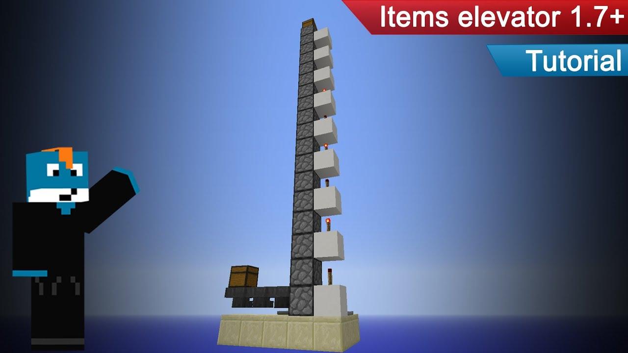 tuto minecraft comment faire un ascenseur items 1 7 fr hd 1080p youtube. Black Bedroom Furniture Sets. Home Design Ideas