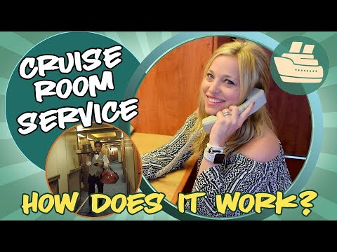 How does room service work on a cruise?