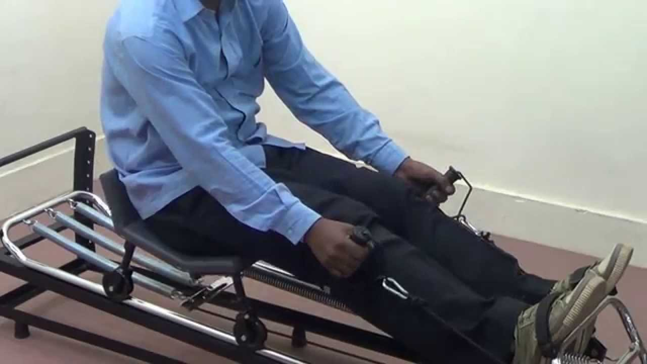 IMI-2819 Rowing Machine cum Sliding Seat - YouTube