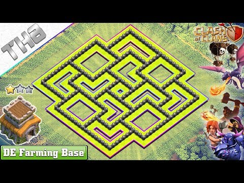 NEW Clash of Clans TH8 Base 2018  NEW Town Hall 8 Dark Elixir Farming Base – Clash of Clans