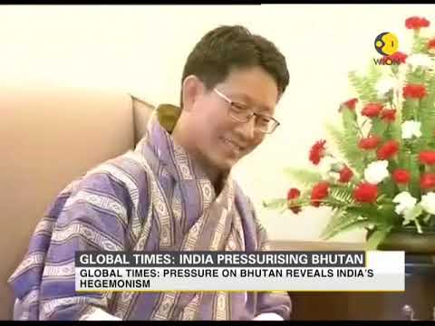 Global times claims India is pressurizing Bhutan to take a position on current military standoff