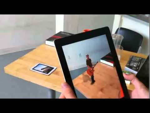 Kinect on iPad with Augmented Reality-3D