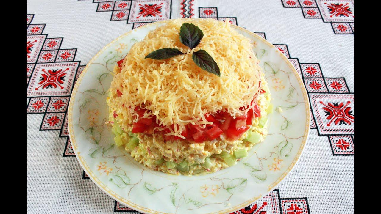 Салат с крабовыми палочками и сыром Салат з крабовими ...