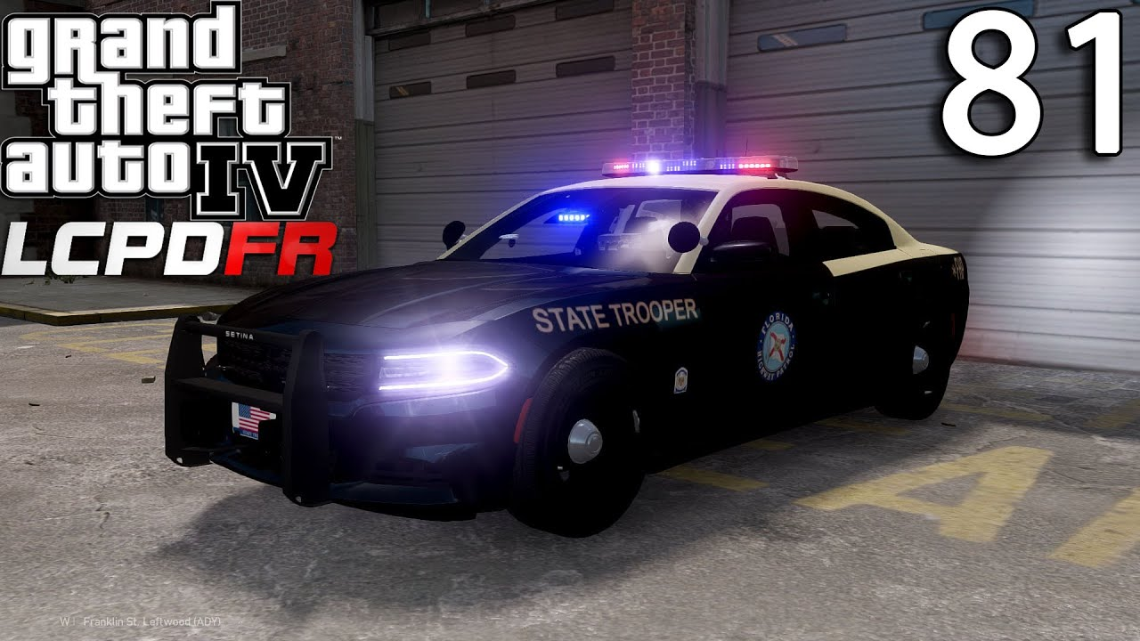 GTA IV LCPDFR 1.0 Day 81  Florida Highway Patrol 2015 Dodge Charger    YouTube