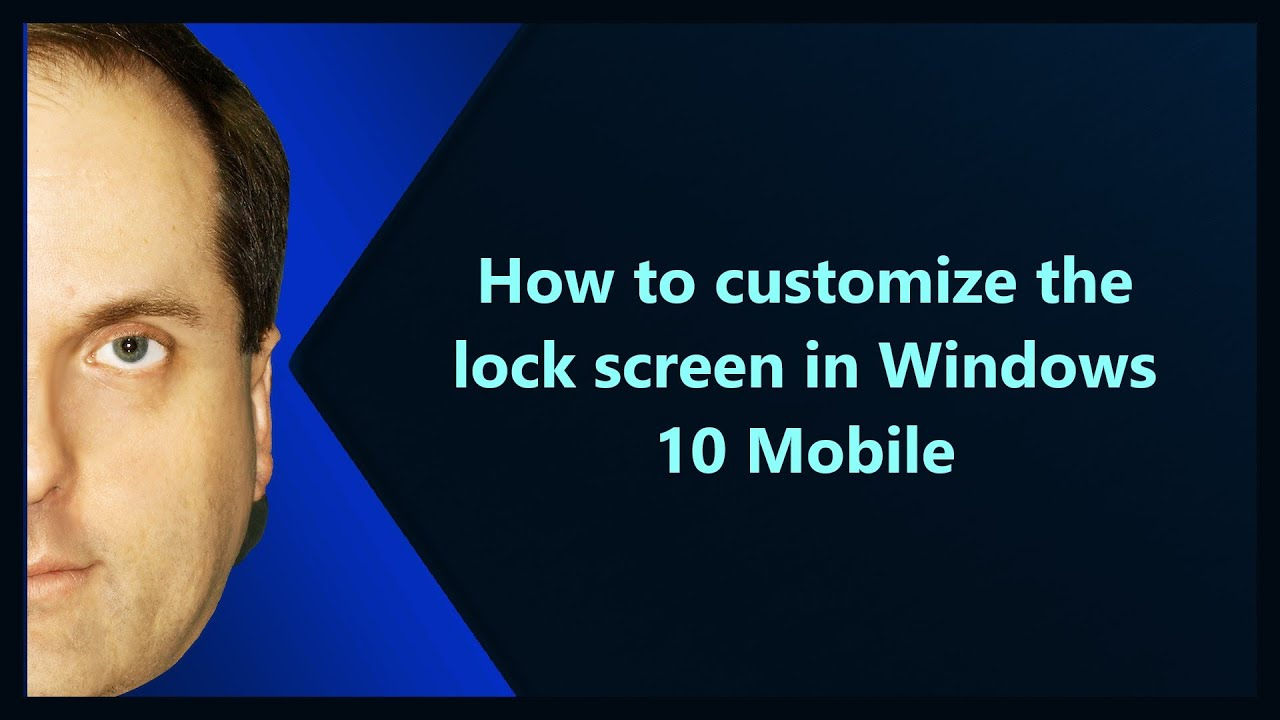 How to customize the lock screen in Windows 10 Mobile
