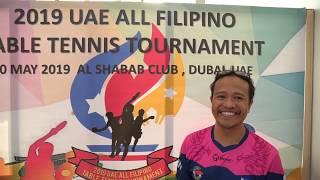 UAE All Filipino Table Tennis Tournament 2019