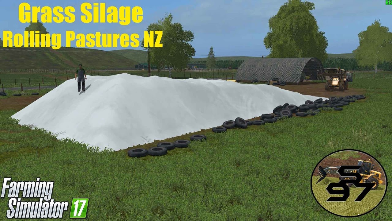 Grass Silage - NZ Style - Rolling Pastures NZ - Farming Simulator 17