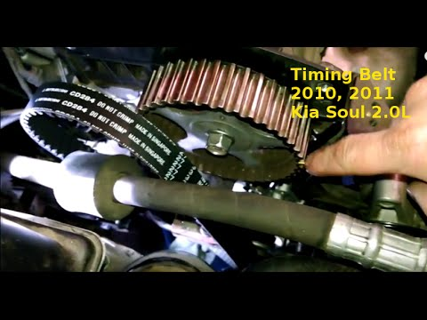 timing belt replacement 2011 kia soul 2 0l how to remove or replace tb -  youtube