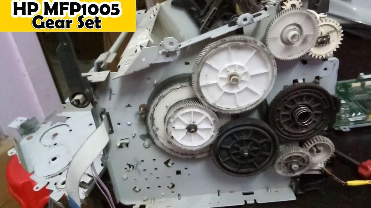 Hp Mfp 1005 Gear Set Assemble Hp Printer Repair Part 1 In Hindi
