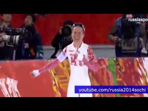 Олимпиада в Сочи 2014 - Ольга Граф, 1-я медаль сборной России (бронза)