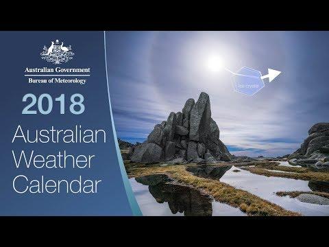 Australian Weather Calendar 2018