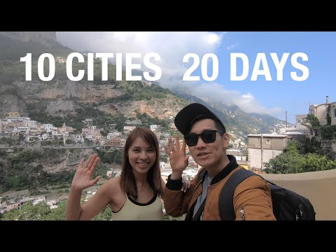 10 Europe Cities in 20 Days (Travel Trip Itinerary) #WetheAI - Italy Spain Belgium Austria Czechia