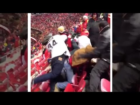 Brawl at Chiefs vs Raiders Game