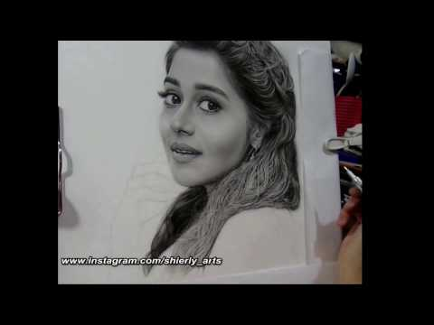 Realism Portrait Drawing Of Tinaa Dattaa (03/2017)