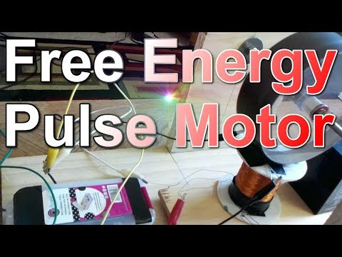 Pulse Motor Powered with Overunity Energy - (123% Electrical Efficiency)