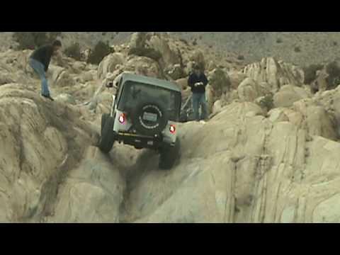 Going up a v-notch at Moonrocks, Reno, NV