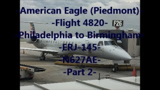 **TRIP REPORT** American Eagle (Piedmont) | PHL to BHM | ERJ-145 | N627AE