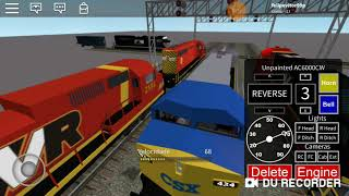 Video of Roblox train from CSX